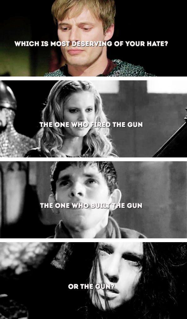 Arthur, Morgause, Merlin, and Morgana. Epic edit.