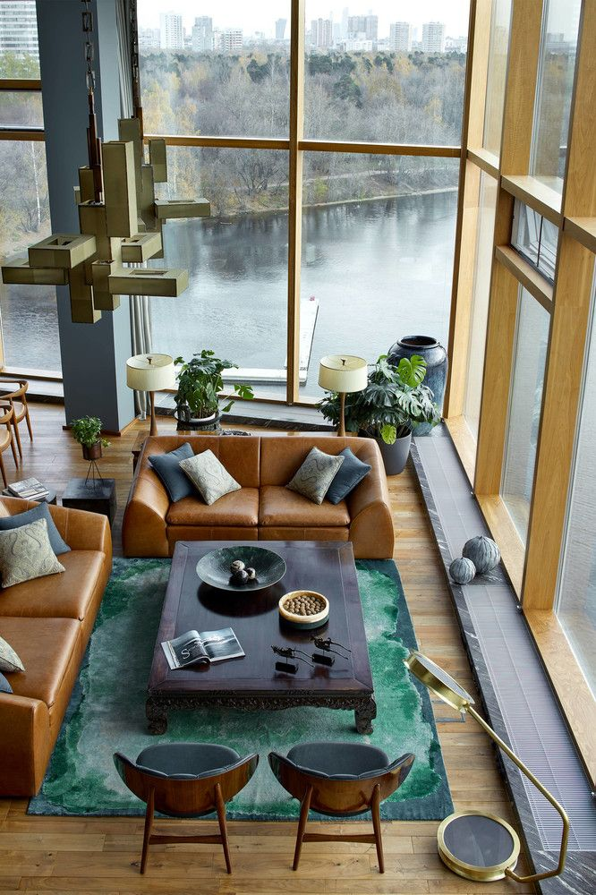 apartment with stunning views and modern architecture in moscow rh pinterest com