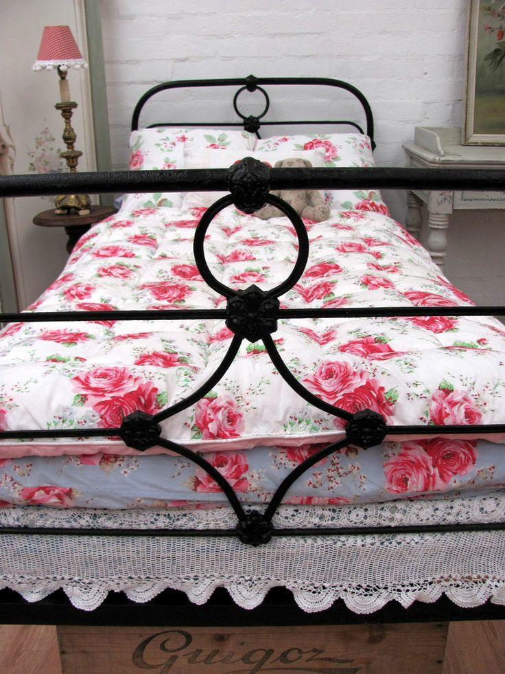 delightful antique victorian iron single bed c1900