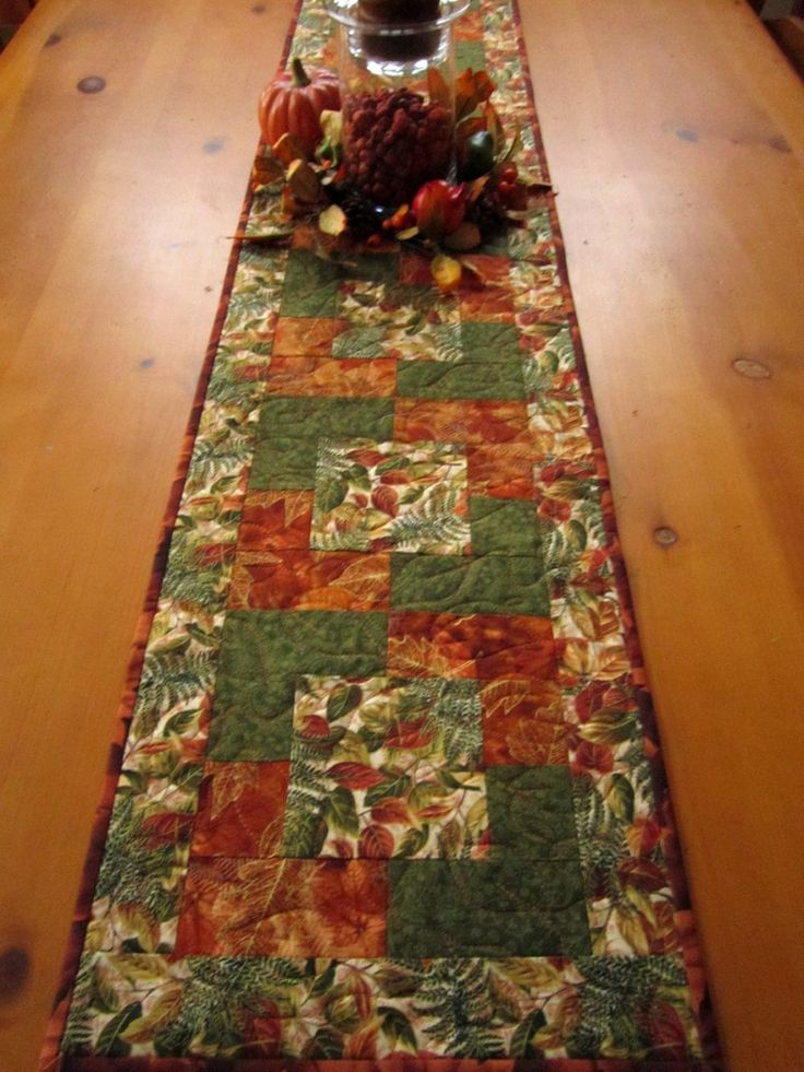 Autumn Colors Fall Table Runner, could make matching placemats
