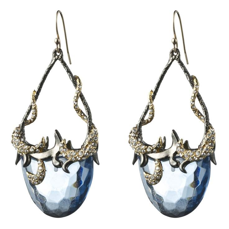 Siyabona Gunmetal Blue Topaz Drop Earrings - Alexis Bittar