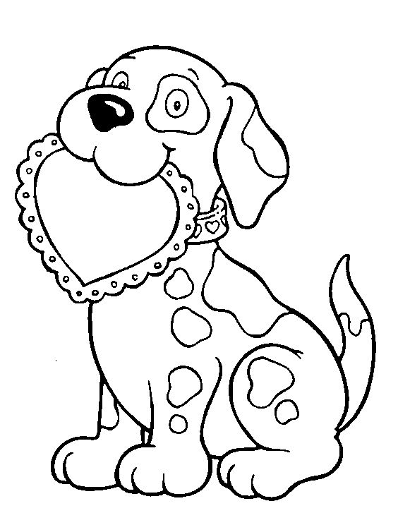 Simple Kids Valentine Coloring Pages 90 Puppy valentine coloring page