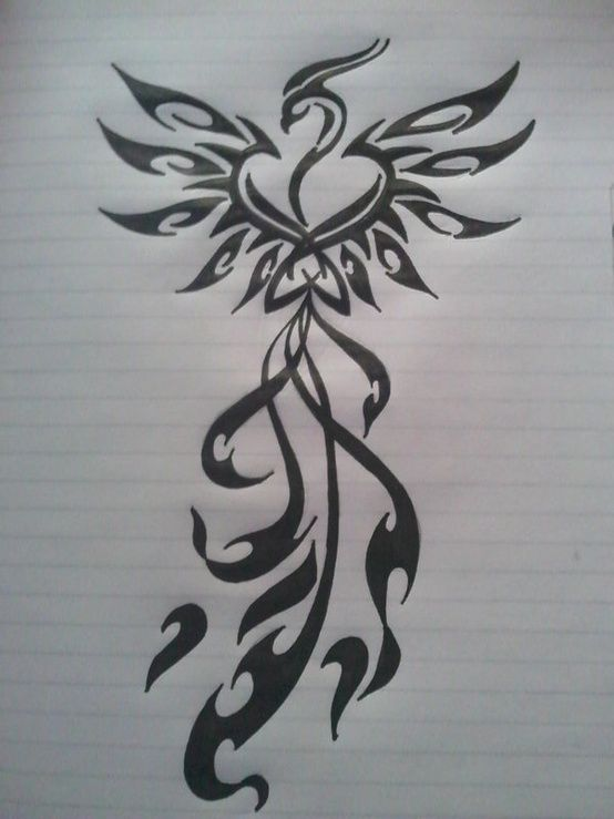 Like Tattoo: Phoenix tattoos design for girls