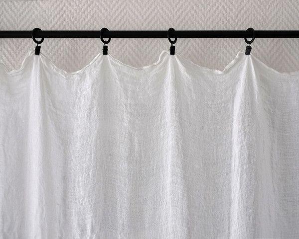 Rideau en étamine de lin / Linen muslin curtain – SECRET MAISON