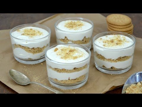 Mousse de leche condensada o serradura portuguesa - YouTube