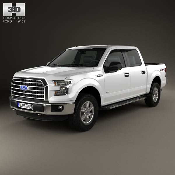 Ford F-150 Super Crew Cab XLT 2014 3d model from humster3d.com. Price: $75