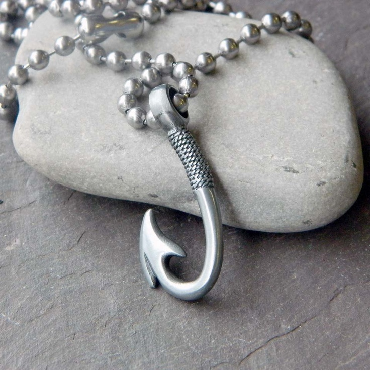 17 best images about fish necklaces on pinterest love for Fish hook necklace