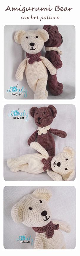 Crochet Pattern - Amigurumi Bear, amigurumi pattern, tutorial crochet http://www.ravelry.com/patterns/library/bear-amigurumi-animal