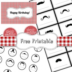 Picnic themed party with mustaches