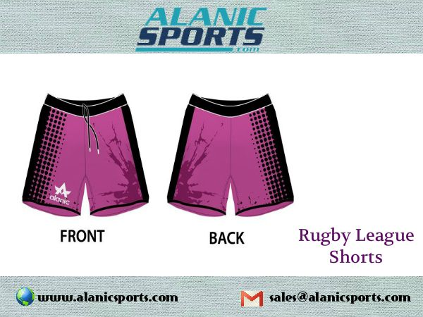 Alanic Sports provides the best quality of rugby shorts,which gives much comfort during the game.