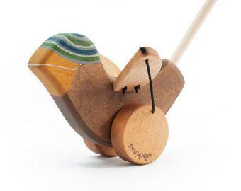 Wooden Kids Toy eco-friendly Goose push toy by FriendlyToys
