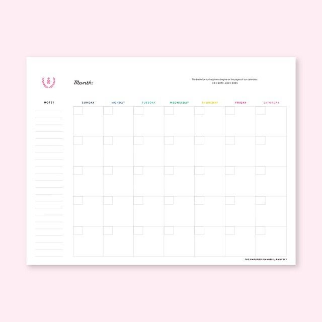 Weekly Calendar Horizontal : Images about printables on pinterest emily ley