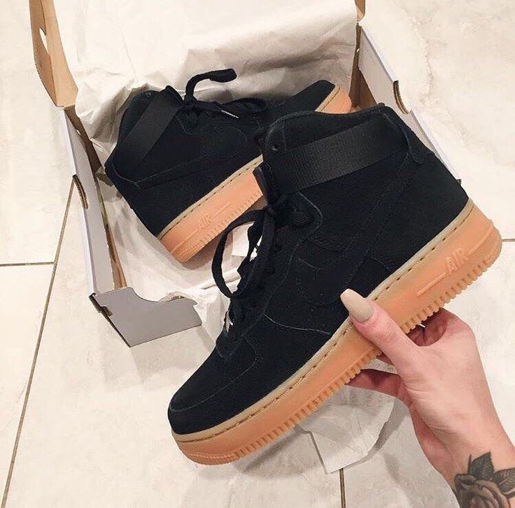 Velvet Air Force 1s high tops