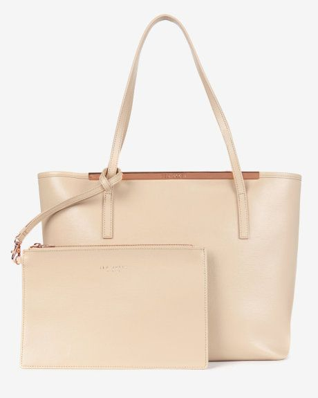 Leather crosshatch shopper - Mink | Bags | Ted Baker
