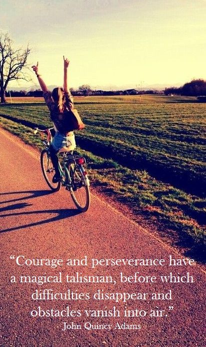 Courage and perseverance have a magical talisman, by John Quincy Adams @ Like...