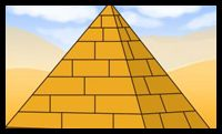 How to Draw an Egyptian Pyramid - Perspective