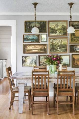 vintage landscape gallery wall!