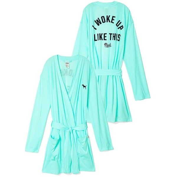 Victoria's Secret Women's PINK Robe Small Light Blue | Amazon.com ($100) ❤ liked on Polyvore featuring victoria's secret