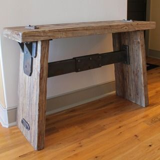 @Overstock - Rustic Forge Large Console Table - Accent your living-room decor with this rustic large console table. Combining stylized faux iron with the appearance of stoic iron smithing, this antique-looking table is the perfect addition to any country, casual, or traditional decor.  http://www.overstock.com/Home-Garden/Rustic-Forge-Large-Console-Table/7233807/product.html?CID=214117 $339.99