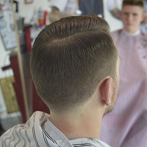 men's tapered side part haircut