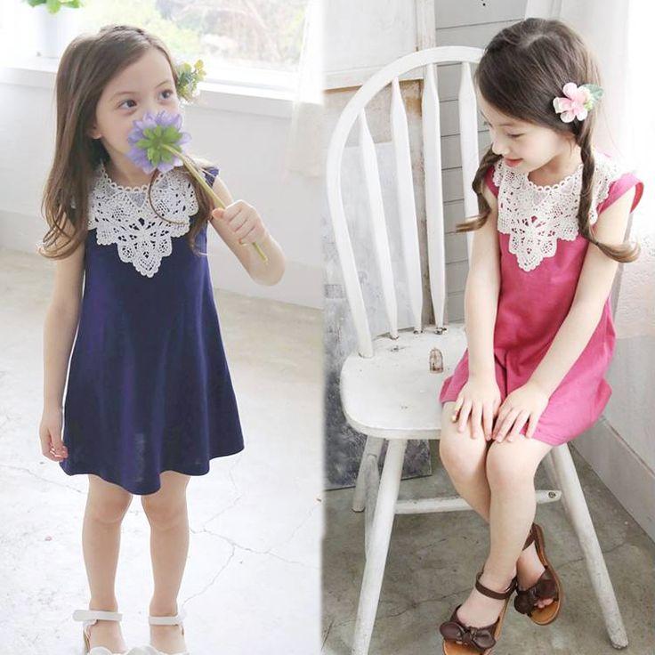 $5.03 (Buy here: https://alitems.com/g/1e8d114494ebda23ff8b16525dc3e8/?i=5&ulp=https%3A%2F%2Fwww.aliexpress.com%2Fitem%2FKorean-fashion-summer-style-children-dress-girls-cotton-lace-cute-sleeveless-dress-New-Kids-Clothes-baby%2F32360360234.html ) fashion summer style children dress girls cotton lace cute sleeveless dress New Kids Clothes baby girls dress princess for just $5.03