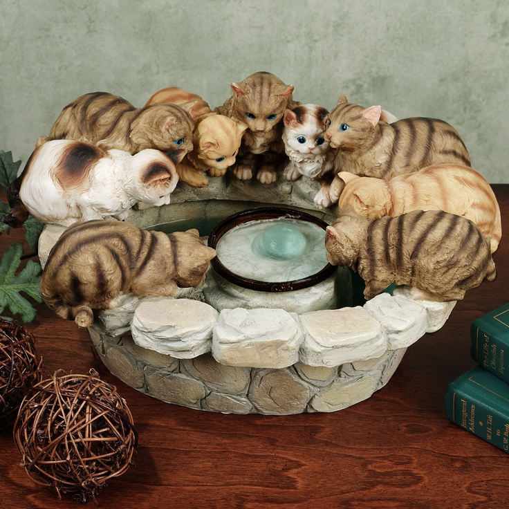 Kittens tabletop fountain fountains pinterest indoor for Diy cat water fountain