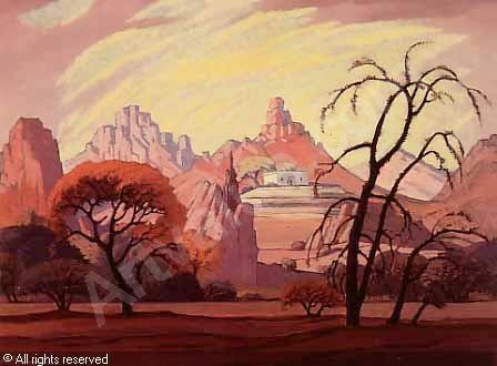 PIERNEEF Jacob Hendrik - Landscape, Namibia