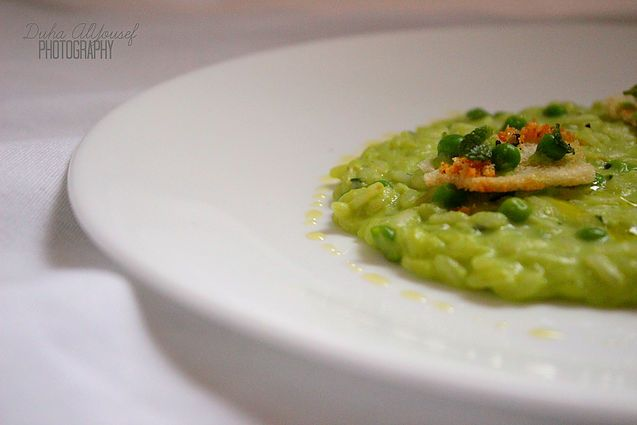 SPRING RISOTTO WITH PEA, MINT AND MASCARPONE | Road To Finesse | Duha AlYousef