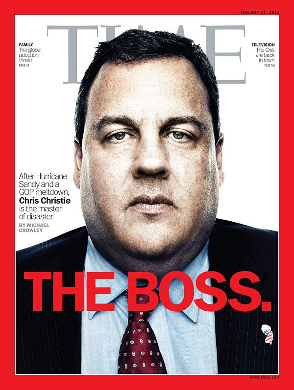 January 21, 2013: The Boss. After Hurricane Sandy and a GOP meltdown, Chris Christie is the master of disaster