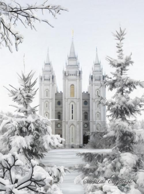 Salt Lake Mormon/LDS Temple in the Winter. Absolutely stunning!