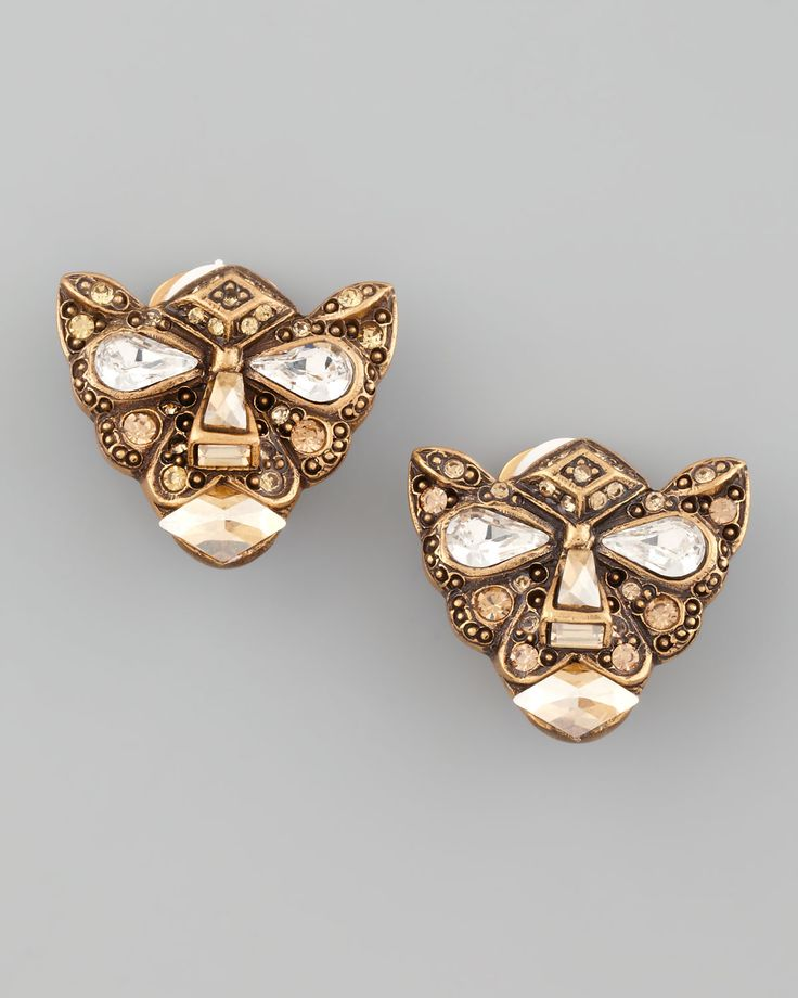 Oscar De La Renta  women's jewerly   Oscar De La Renta Crystal Panther Clip…