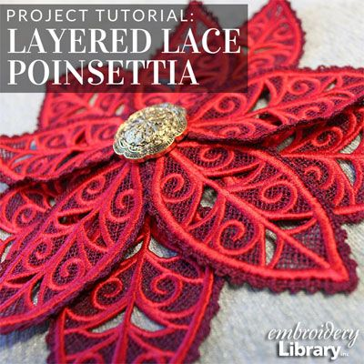 Layered Lace Poinsettia  (PR2045) from www.Emblibrary.com