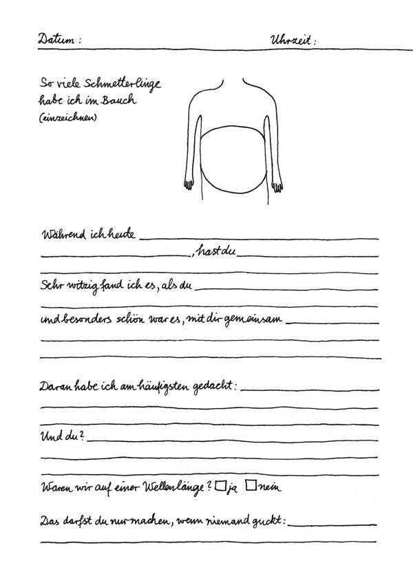 Leseprobe zu Doro Ottermann: Tagebuch für Paare. Mosaik Verlag (Paperback, Erotik & Sex, Liebe & Beziehung)