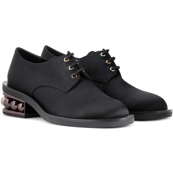 Nicholas Kirkwood Casati Derby Shoes ($835) ❤ liked on Polyvore featuring shoes, black, nicholas kirkwood shoes, black shoes, kohl shoes and nicholas kirkwood