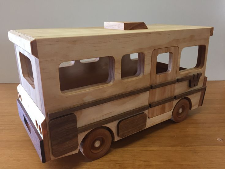Handmade Wooden Toys, Winnebago Motor Home, Camper #odinstoyfactoy #handmade #handcrafted #woodentoys #toys #tallahassee #florida #winnebagohttp://forums.toymakingplans.com/post/winnebago-7741163