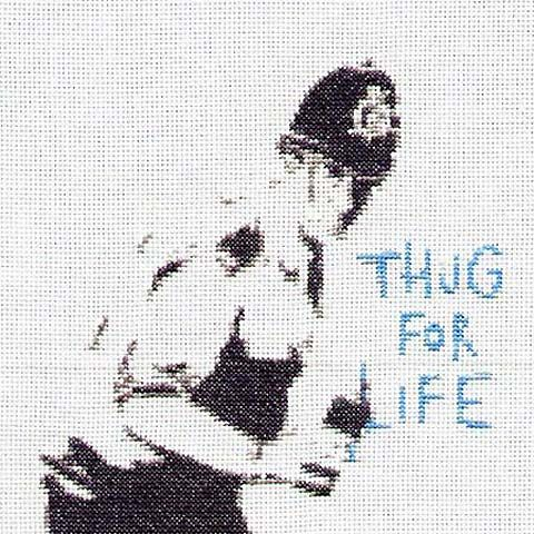 Princess Animal cross-stitches Banksy's images