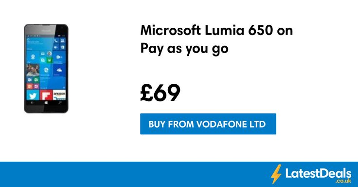 Microsoft Lumia 650 on Pay as you go, £69 at Vodafone Ltd