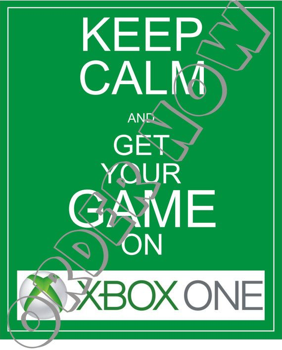 #XBOX #ONE. Hey, I found this really awesome Etsy listing at https://www.etsy.com/listing/169801777/xbox-one-keep-calm-diy-printable-iron-on
