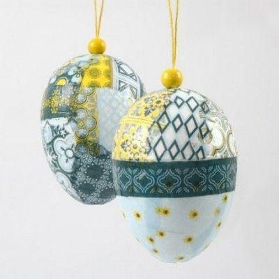 Idee 15 - Hangende decoupage eieren
