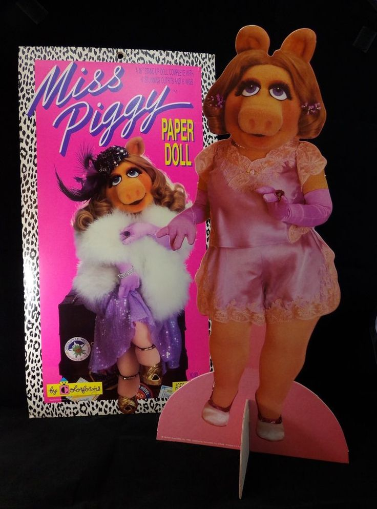 Vintage 1989 Jim Henson 16 034 Miss Piggy Paper Doll Collectible | eBay