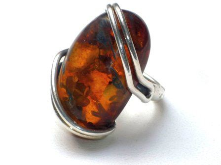 Baltic amber massive ring by Moonstoneamber on Etsy, $69.00
