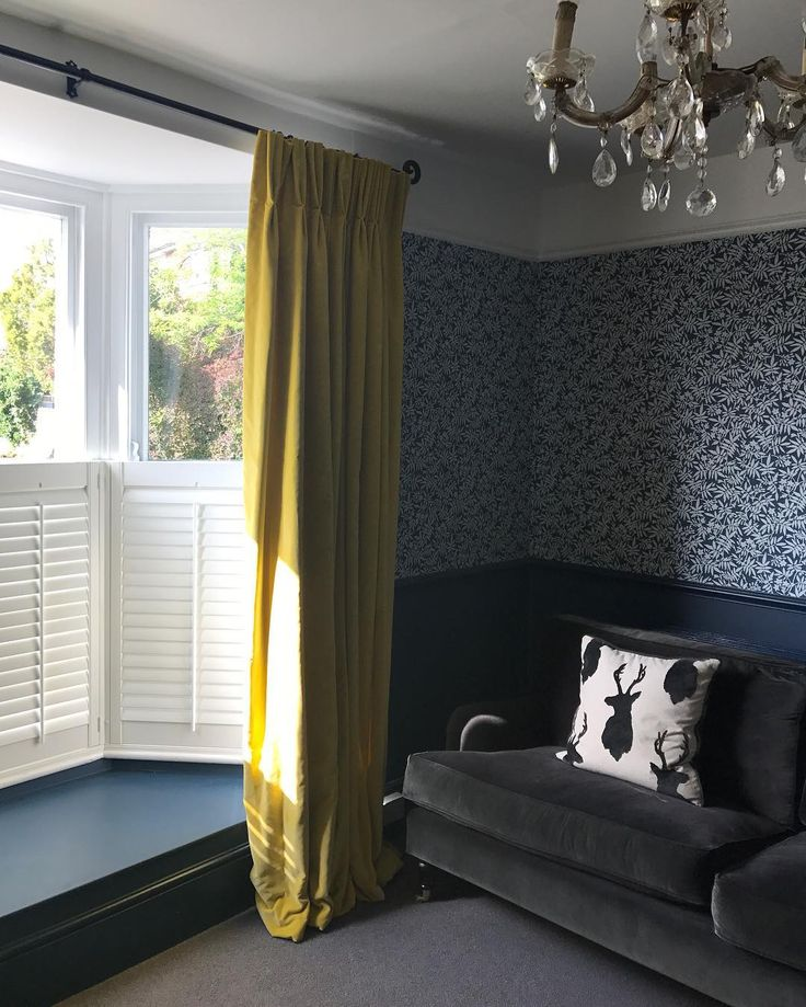 "Yellow curtains for regular client - Bricksandstitches (@bricksandstitches) on Instagram: ""The curtains are up!  The window seat cushion is on its way, we've had our first sleep over &…"""