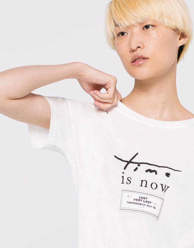 :Camiseta parche time is now