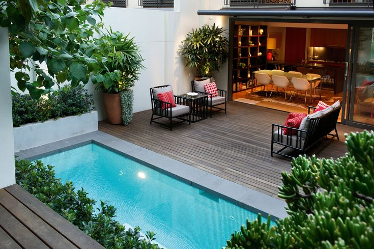 ALBOO | FOXY | 3 SEATER + ARMCHAIRS + TALL SIDE TABLE | CUSTOM POWDERCOAT AND UPHOLSTERY | Outdoor space designed by the talented team at GoodManors Pools + Gardens Sydney