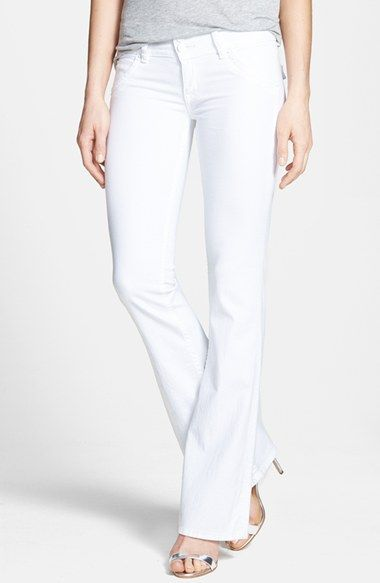 Hudson Jeans Signature Flap Pocket Bootcut Stretch Jeans (White Wash) available at #Nordstrom