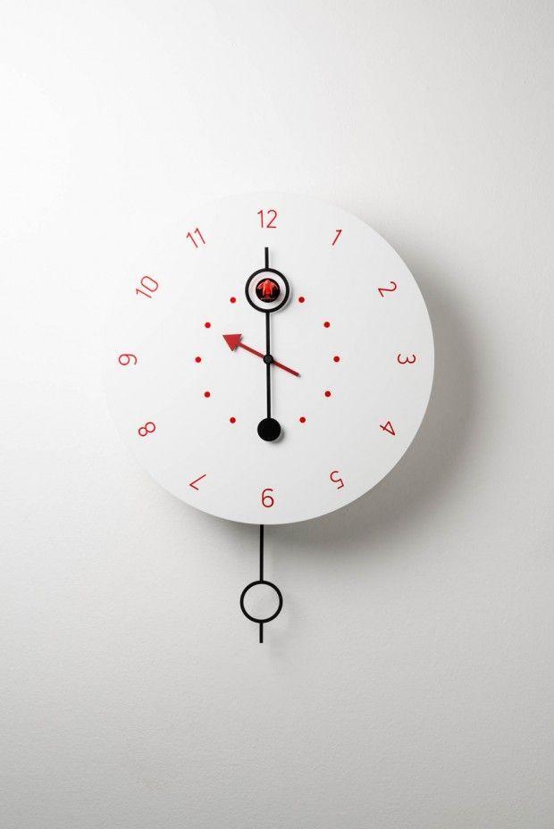 u0027cipasso clock whiteu0027 designed by marco