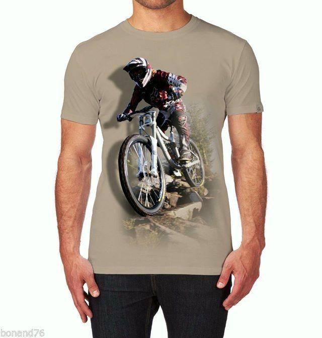 3D Print T-Shirt Regular Fit Down Hill Cycle Bike (Size XL - Asian) #RCK557 #BasicTee