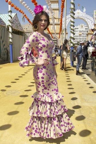 María José Suárez en la Feria de Abril