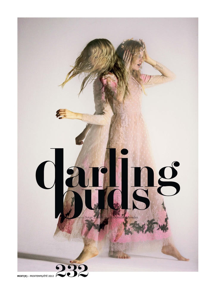 darling buds: hanne gaby odiele by serge leblon for mixte #2 spring/summer 2012