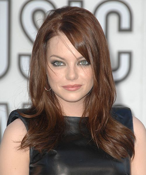 Emma Stone - Casual Long Straight Hairstyle..like the layers